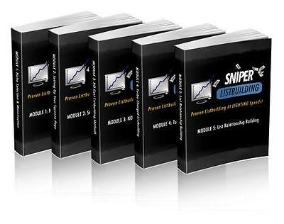Sinper Listbuilding 5 Modules + 7 Videos on 1 CD