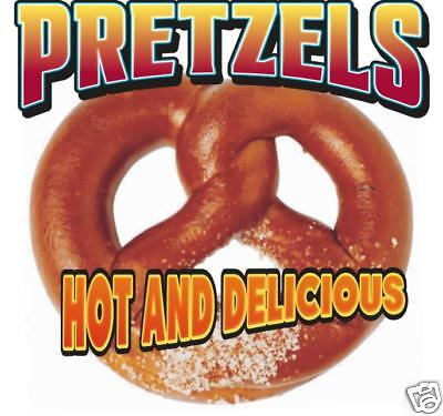 Pretzel Fast Food Concession Stand Vinyl Sign Decal 12""