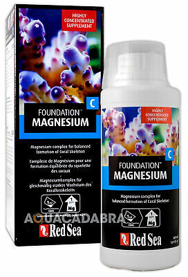 RED SEA REEF FOUNDATION C 500ml MAGNESIUM SUPPLEMENT Mg CORAL AQUARIUM FISH TANK