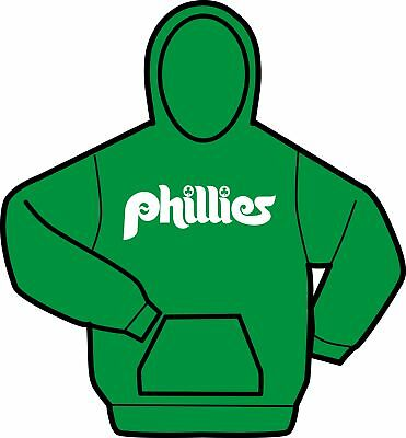 Irish Phillies Shamrock Green White Hoody Sweatshirt