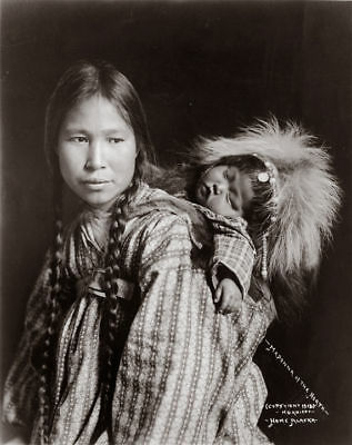 Madonna of the North ~ Portrait of Inuit Woman with papoose