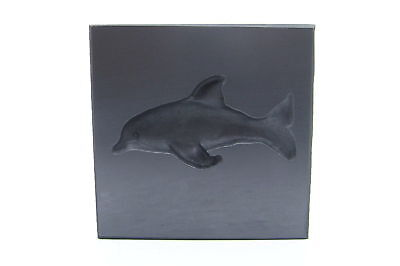 Limited Edition Graphite Glass Lampwork 3D Dolphin Diving Mold 2-1//2x3
