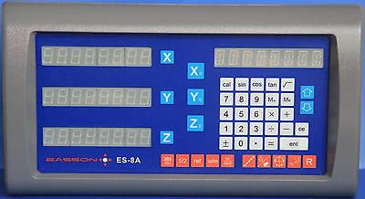 EASSON 3 axis digital readout DRO + 3 JCXE linear scales (complete unit)
