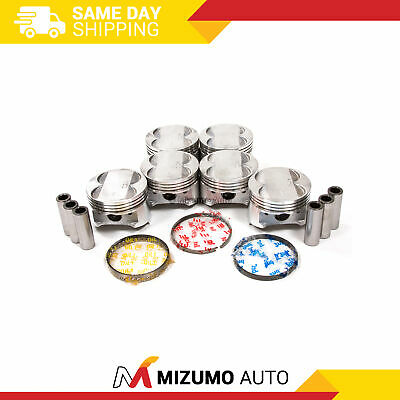 Pistons w/ Rings @STD fit 91-99 Mitsubishi Dodge Non-Turbo 3.0L V6 6G72 DOHC