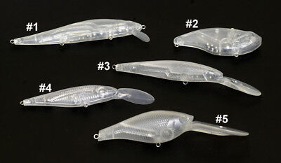 5 UNPAINTED Clear 90mm  LC Pointer CrankBaits
