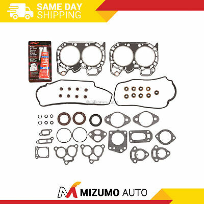Head Gasket Set Fit 85-94 Subaru 1800 Loyale XT 1.8 SOHC 8V EA82T - Silicone