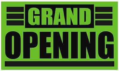 Grand Opening h Business Banners 3x6