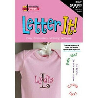 Amazing Designs Letter It Embroidery Machine Software