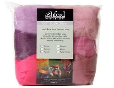 Ashford Corriedale Sliver - Mixed pack - Spring Colours 100g CSPSP