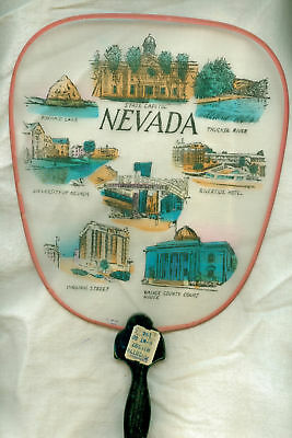 1950's Japan Fan Nevada Capitol Pyramid Lake Truckee Ri