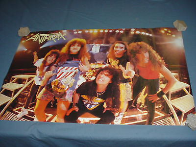 ANTHRAX Group Photo Poster NICE Vintage 1987