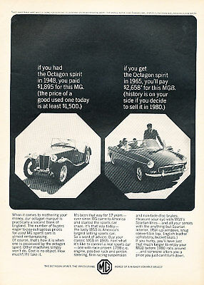 1965 MG MGB Classic Vintage Advertisement Print Ad