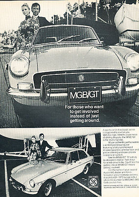 1972 MG MGB GT Classic Vintage Advertisement Ad
