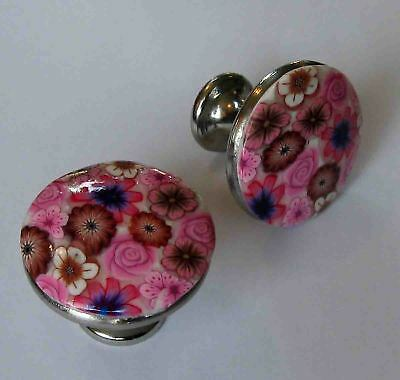 New polymer clay Handmade Cabinet Drawer Pair Of Knobs