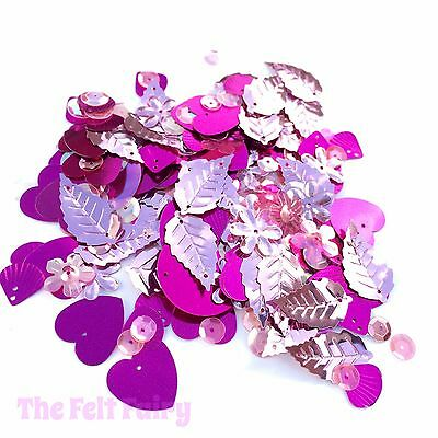 Mixed Cup Sequins 100+ Loose Sparkling Pinks Mix