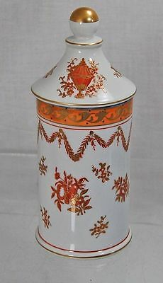 Vintage Isco Handpainted Floral Covered Candy Dish Oriental Urn Japan
