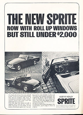 1964 Austin Healey Sprite - Classic Car Vintage Advertisement Ad