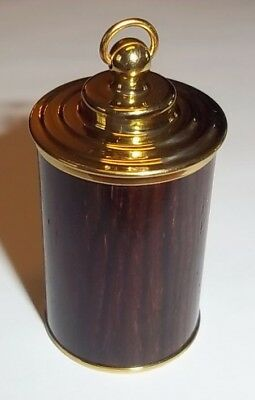 Thimble Case Wood and brass18th century Repro