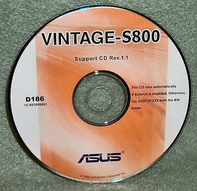 Asus Vintage-S800 Support Cd Drivers Windows Xp