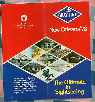 Brochure New Orleans 1978 The Gray Line Bus Tours