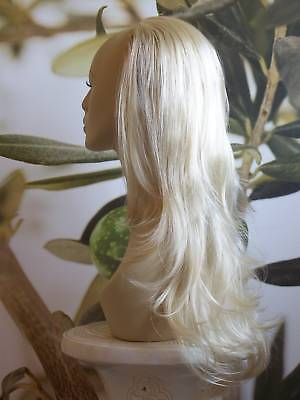 "Light Blonde 1 Piece Clip In Hair Extension 25"" Long # 613 Kims Wigs Uk"