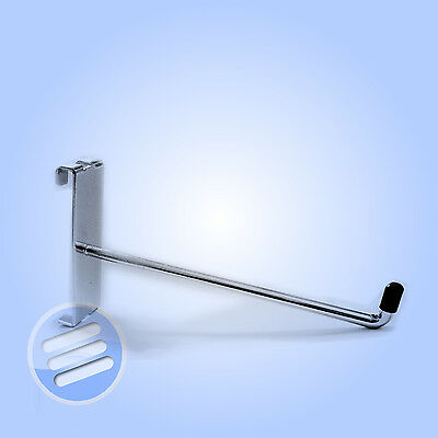 "10 x 4"" SINGLE DISPLAY HOOK/ PRONG/ ARM ACCESSORY FOR RETAIL SHOP GRIDWALL MESH"