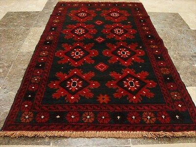 BALAUCHI TRIBAL NOMADIC AFGHAN HAND KNOTTED RUG 4.6x2.8