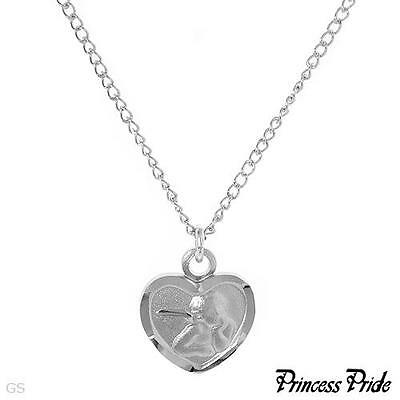 PRINCESS PRIDE Heart / Angel Necklace Made in 925 Sterling silver
