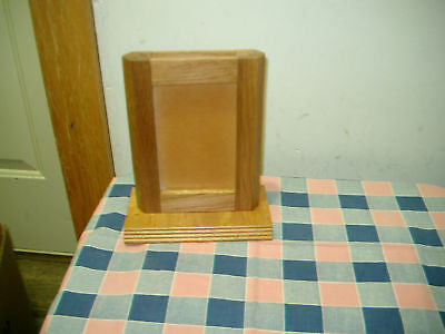 Beautiful Oak 2 Sided Menu Sign Holder Picture Frame