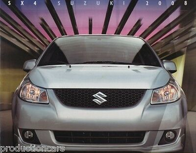 2008 Suzuki SX4 Original 24-page Car Sales Brochure Catalog Book