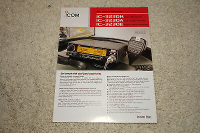 Icom IC-3230H Mobile FM Transceiver Advertising Flyer