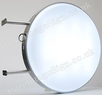 """LED 80cm 32"""" Outdoor 2-Sided Round Projecting Light box lightbox"""
