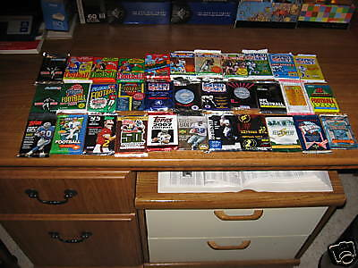 Large Lot 500 Old Football Cards In Sealed Packs!