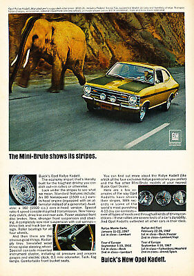 1968 Opel Kadett Mini Brute Vintage Advertisement Ad