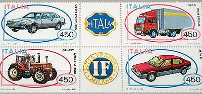 Italy 1984 1872-75 bl of 6 Cars Construction Autos MNH