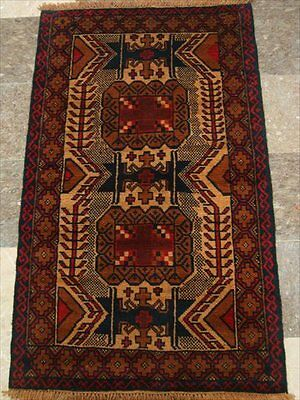 BALAUCHI TRIBAL NOMADIC AFGHAN HAND KNOTTED RUG 4.7x2.9