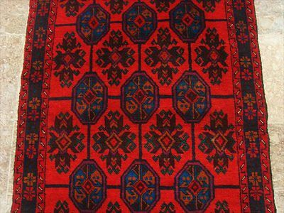 BALAUCHI TRIBAL NOMADIC AFGHAN HAND KNOTTED RUG 4.4x2.8