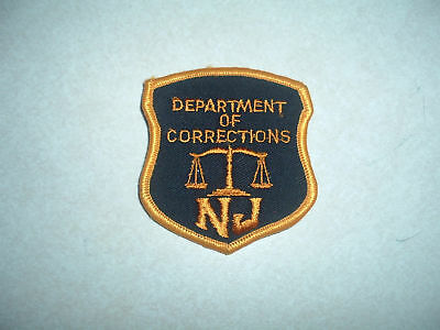 Law Enforcement Patch Department Corrections New Jersey