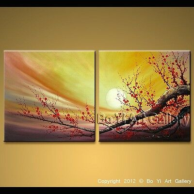 Modern Oil Painting Landscape Impression Blossom Tree Contemporary Wall Art BoYi
