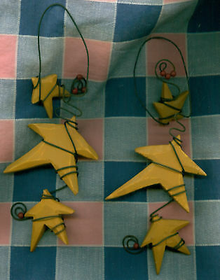 Two Christmas Ornaments Stars Wire Bendable  LOOK