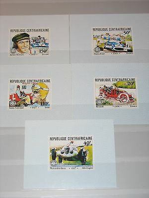 Central Africa 1981 776-80 Deluxe Sheets Cars Autos MNH