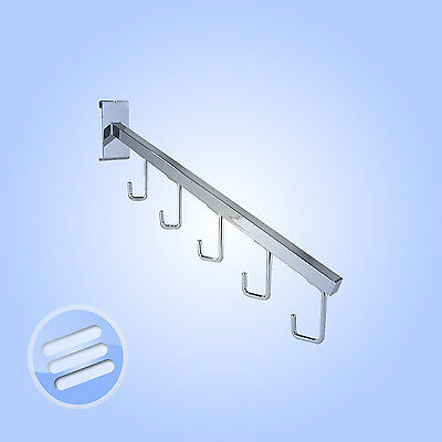 1 x ANGLED ' 5 J HOOK' DISPLAY ARM FOR GRIDWALL MESH/ ACCESSORY/ CLOTHES HANGING