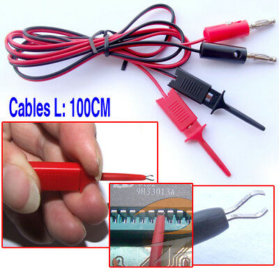 banana plug to Test Hook Clip Cable Test Probes IC PCB