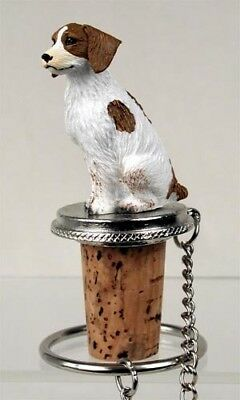 Brittany Brown   And White   Dog Wine Stopper