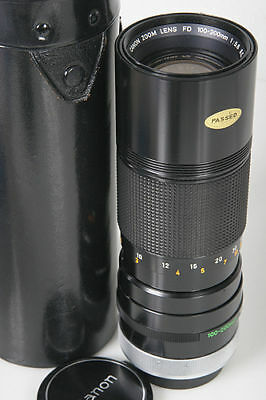 Canon 100-200mm FD lens * Mint with caps & case