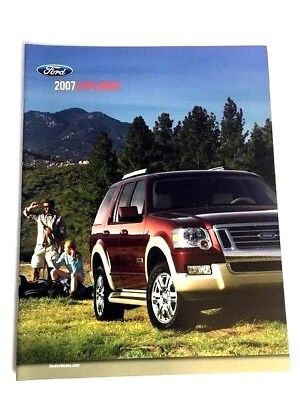 2007 Ford Explorer 22-page Original Car Sales Brochure Catalog - Eddie Bauer