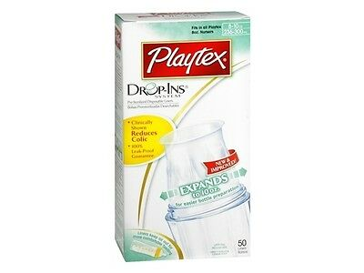 Playtex 8-10oz Nurser Drop-Ins Disposable Baby Bottle Liners (50 Liners)