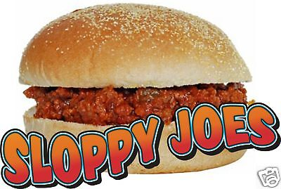 Sloppy Joes BBQ Restaurant Concession Food Decal 14""