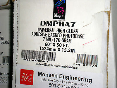 """60"""" Glossy Indoor Permanent PSA Paper DMPHA7-R5060"""