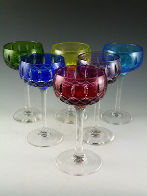 John WALSH WALSH Crystal - Harlequin Coloured Wine Glasses - Set of 6